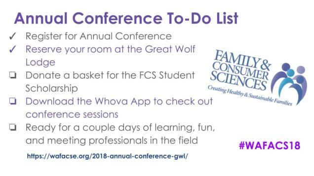 Annual Conference To-Do List